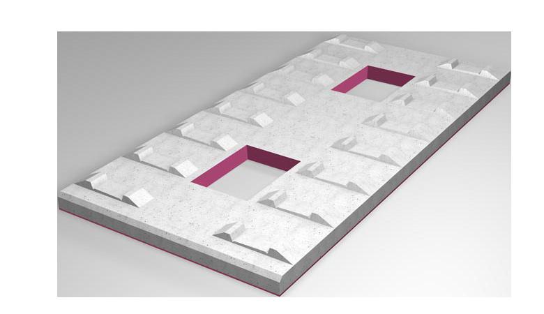 STM Full-surface bearings for track slabs