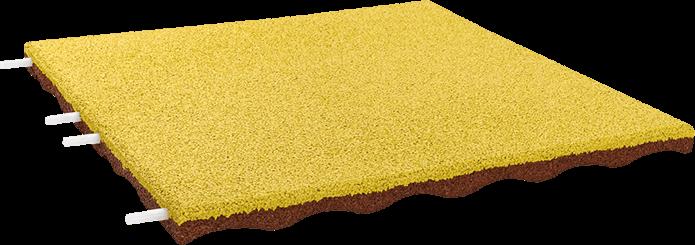 EUROFLEX Fallschutzplatte EPDM gelb