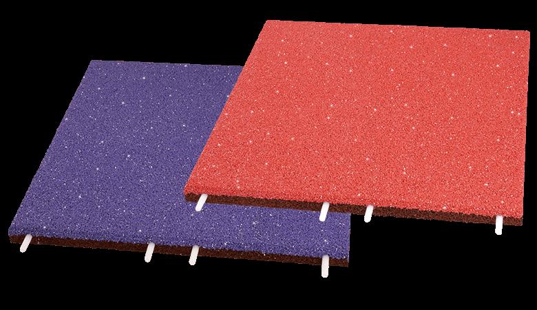Fallschutzplatte EPDM Glitter