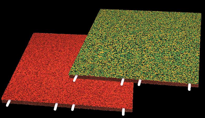 Fallschutzplatte EPDM Multicolor