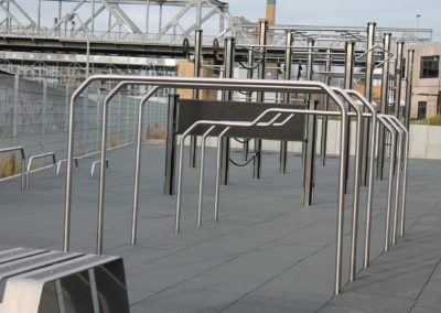 Impact protection slabs for outdoor fitness, Germany