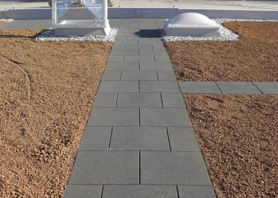 KRAITEC step as maintenance way on flat roofs