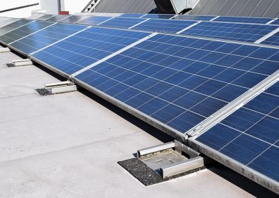 KRAITEC top stripes as protective layer under PV systems