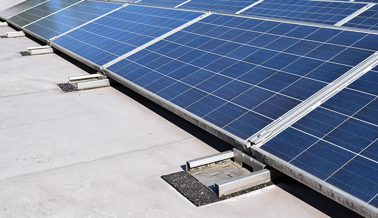 Protective layer under photovoltaic systems