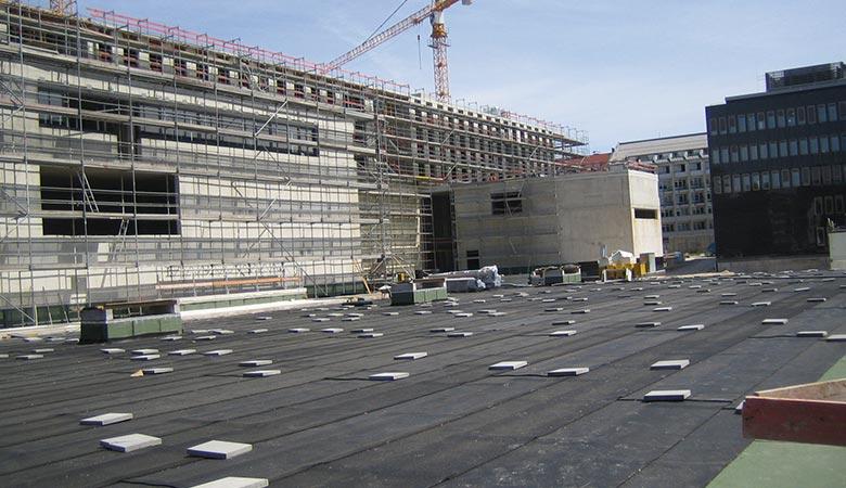 Bautenschutzmatten für Flachdächer