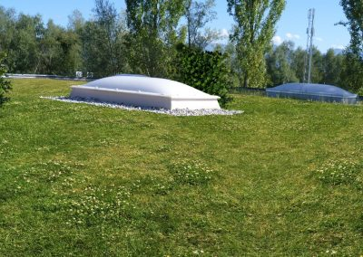 Begrüntes Flachdach Sportpark Lech