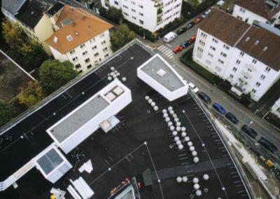 KRAITEC top Bautenschutz auf Fachdach, Frankfurter Welle