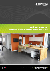 brochure Les produits SPORTEC® pour bureaux, éducation, commerce, événtementiel et plus