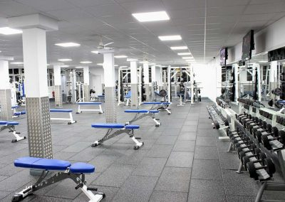 SPORTEC style for weight lifting areas - England